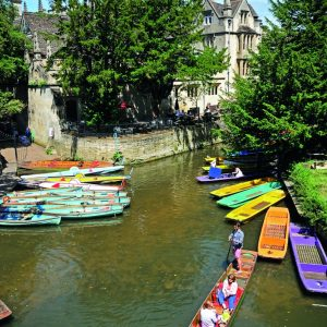 Picture of punts in Oxford, England